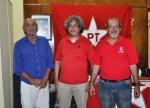 José Carlos de Castro, Edson Luiz Parisotto e vereador Ricardo Corrêa (Expresso Regional / Foto: Lelo)