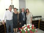 Cerimônia de posse em Juquiá, Vale do Ribeira /SP -Prefeito e esposa, vice- prefeita e esposo