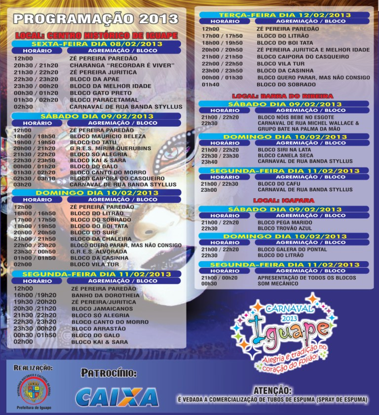 Carnaval 2013 Iguape
