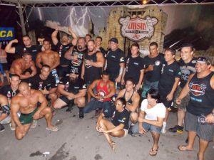 Atletas participantes do Campeonato Brasileiro de Strongman 2013 - Peruíbe, SP
