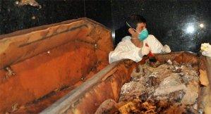 Exumação de Dom Pedro I (Fotos: Divulgação/Valter Diogo Muniz)