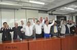 Lideranças do PTB comemoram a filiação de Marcelo Teixeira ( Foto ER/ Lelo)