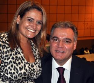 Prefeita Ana Preto e o presidente da Assembléia Legislativa, deputado Samuel Moreira