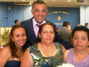 Vereador Ivo Eletricista, sua filha, esposa e irmã. (Foto: ER)